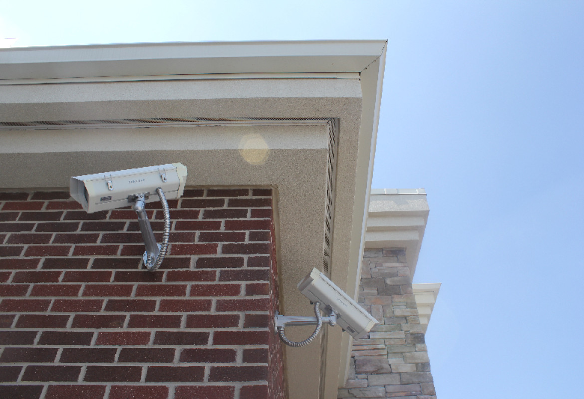 Credit union surveillance system installed by black mesa security