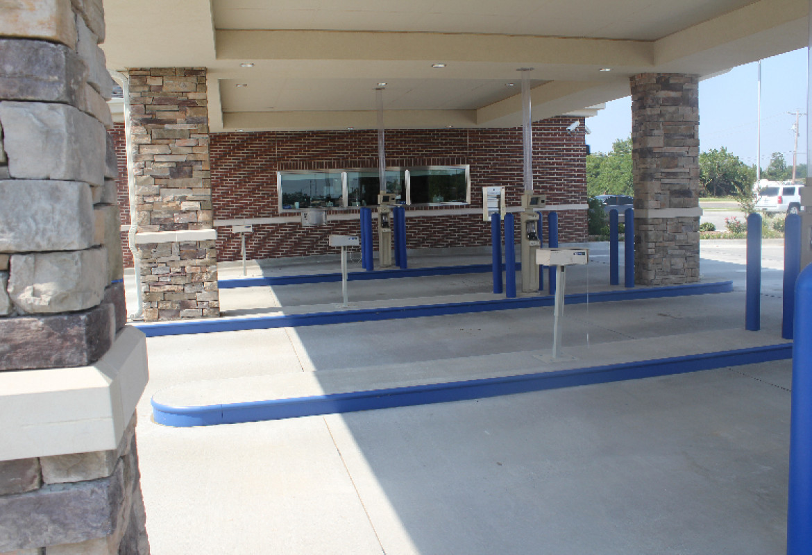 credit union drive thru system installed by black mesa security