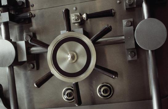 bank vault door installed by black mesa security