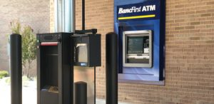 BancFirst Drive up banking customer kiosk and atm