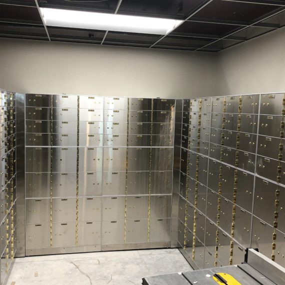 bank vault Installation project completed by black mesa security