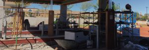 pneumatic drive thru system installation by black mesa security