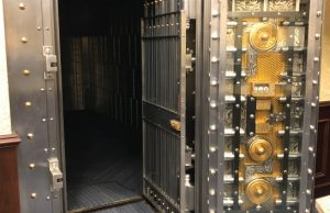 open vault door installed by black mesa security