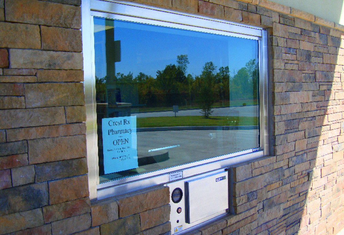 pharmacy drive thru systems installed by black mesa security